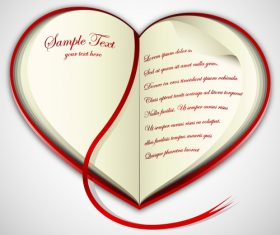 Heart shaped love letter vector