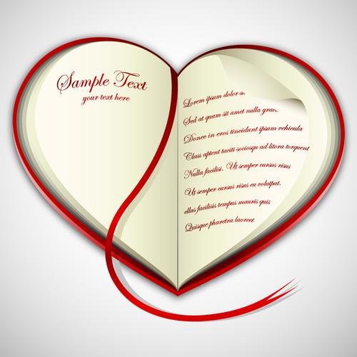 Heart shaped love letter vector
