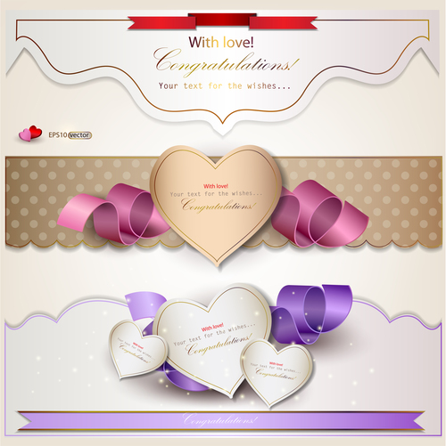 Heart shaped valentine label sticker vector