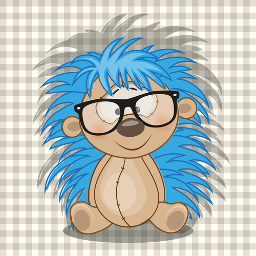 Hedgehog cartoon vector