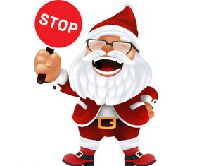 Holding sign santa claus cartoon icon vector
