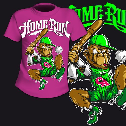 Home run t shirt printing pattern design vector