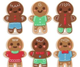 Human shape gingerbread cartoon vector