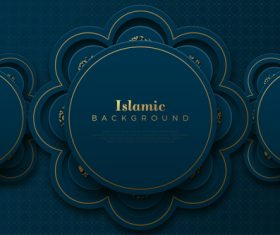 Islamic classic ornaments background vector