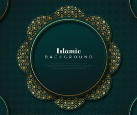 Islamic decoration background vector