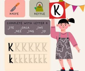 K letter word meaning and spelling vector