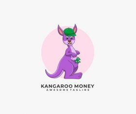 Kangaroo logos vector