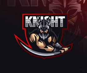 Knight game mascot design vector