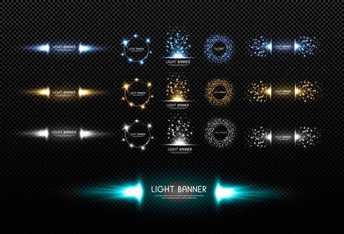 Light banner background vector