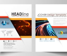 Light cover brochure vector