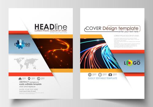 Light cover brochure vector