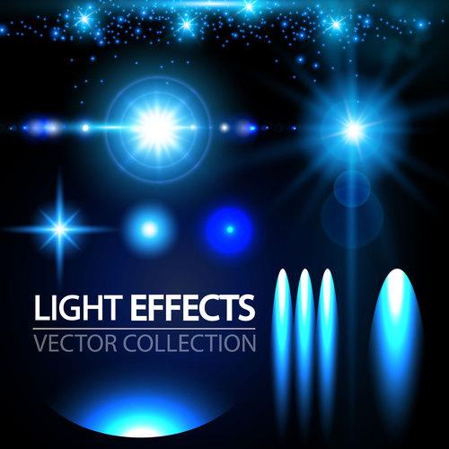Light effect vector set
