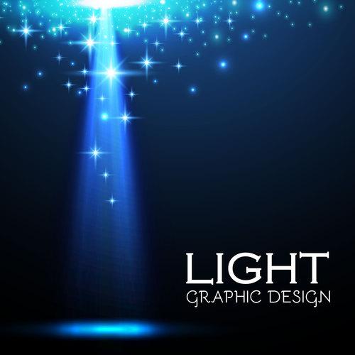 Light graphic design vector