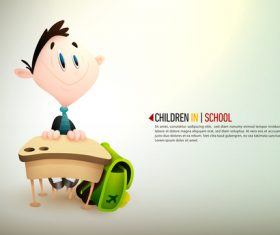 Little boy in teacher cartoon illustration vector
