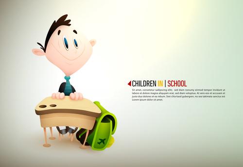 Little boy in teacher cartoon illustration vector