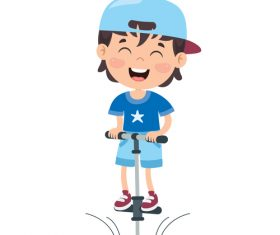 Little boy who loves sports vector