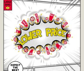 Lover price comic bang vector