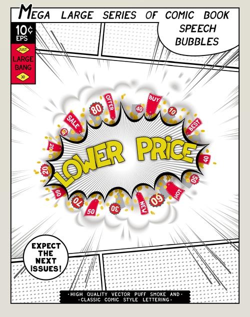 Lover price comic bang vector