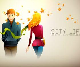 Lovers breaking up cartoon illustration vector