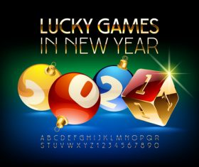 Lucky games in new year vector
