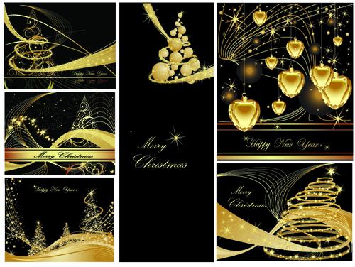 Luxury Christmas card cover design vector