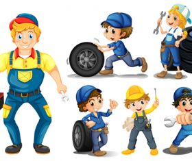 Maintenance worker cartoon vector