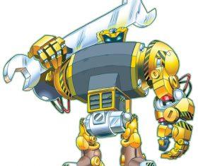 Majestic robot vector