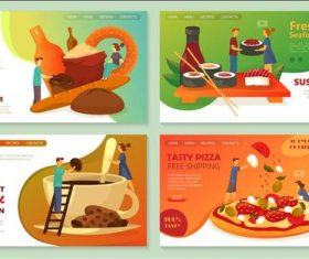Making food cartoon illustration vector