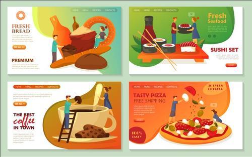 Making food cartoon illustration vector
