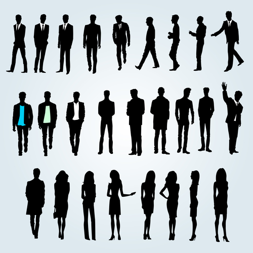Male silhouette character vector