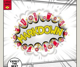 Markdown comic bang vector