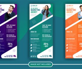 Marketing agency poster banner vector