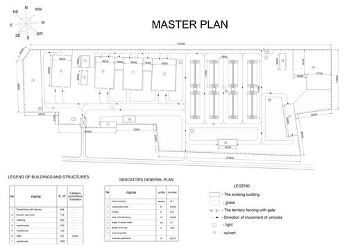 Master plan building construction sketch vector