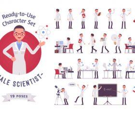 Medical professor cartoon character vector