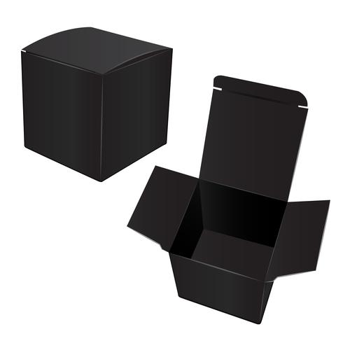 Medium sized goods packaging box vector