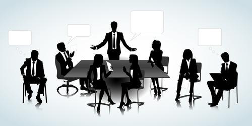 Meeting silhouette vector