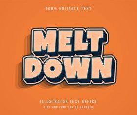 Melt down 3d editable text vector
