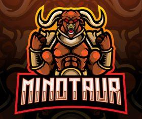 Minotaur game mascot design vector