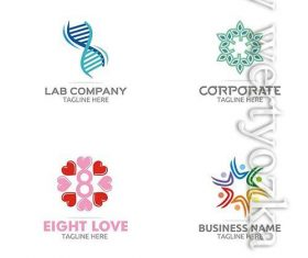 Modern color logo designs vector