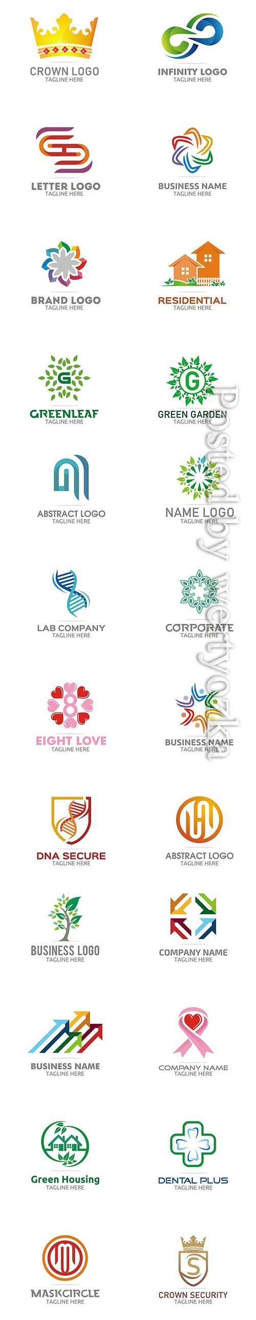 Modern color logo designs vector