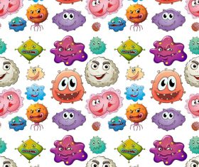 Monster background pattern cartoon vector