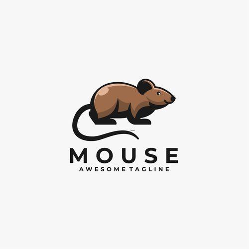 Mouse logos vector