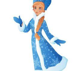 Mythological character Snow Princess illustrations vector