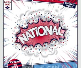 National comic bang vector
