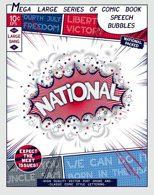 National comic bang vector