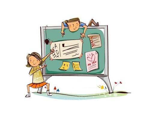 Naughty kids concept illustration vector