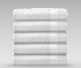 Neatly stacked towels vector
