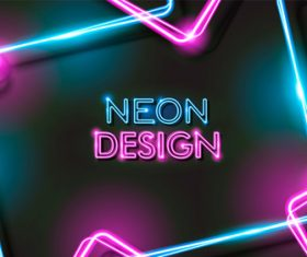 Neon glowing abstract background vector