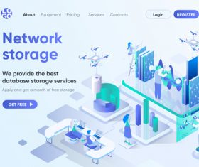 Network storage new technologies concept vector