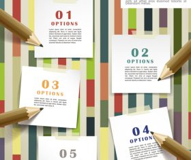 Note background infographic vector